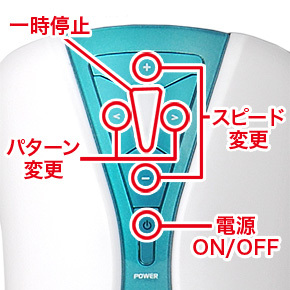 A10サイクロンSAの操作ボタン説明