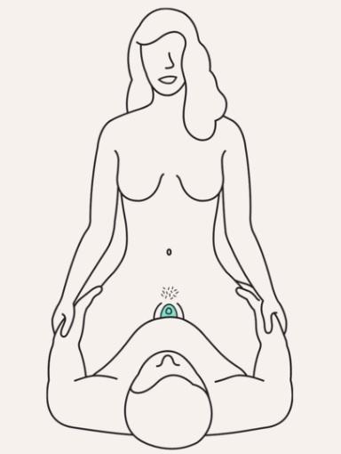 新ウーマナイザー【EVAⅡ(エヴァ2)】を装着しながらセックスしている女性の図